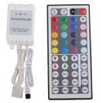 RGB LED szalag vezérlő 44 gombos infrás távirányítóval