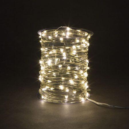 Kültéri - beltéri micro LED fényfüzér meleg fehér