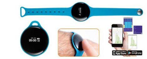 FLEX fitness karóra, multifunkciós okosóra - kék