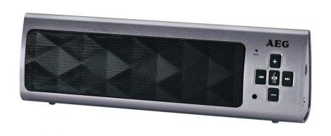 Hordozható AEG kihangosító, MP3 lejátszó bluetooth hangfal
