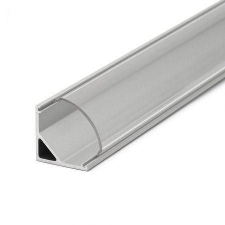 LED szalag sarok profil fedlap 1m - átlátszó
