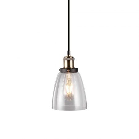 V-TAC retro típusú csillár lámpatest átlátszó burával - 3735