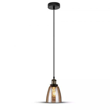 V-TAC retro típusú csillár lámpatest borostyánsárga burával - 3736