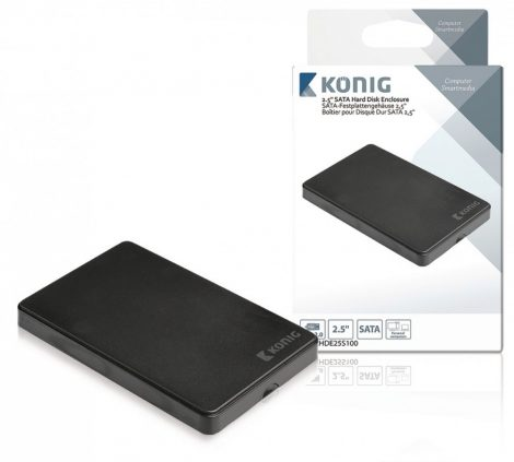 """2,5"""" USB 2.0 SATA ház, külső HDD / merevlemez tok"""