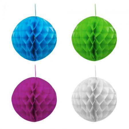 Gömb alakú lampion 20cm - kék