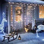 LED-es fényfüggöny, fényfüzér / 160 LED-es fényháló égősor
