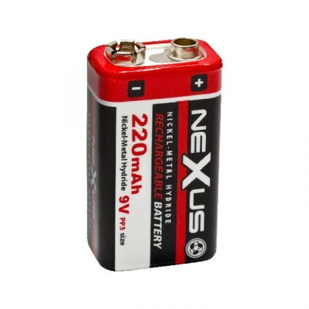 9V -os akku, tölthető elem, 220mAh akkumulátor