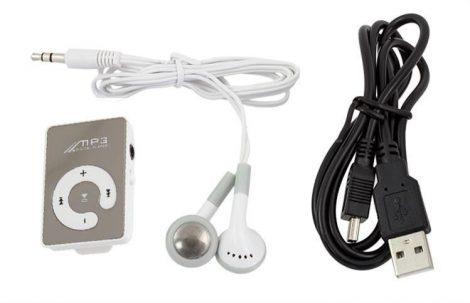 Hordozható mini MP3 lejátszó fülhallgatóval