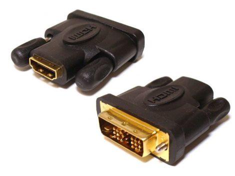 HDMI kábel aljzat - DVI 18+1 tűs dugó átalakító