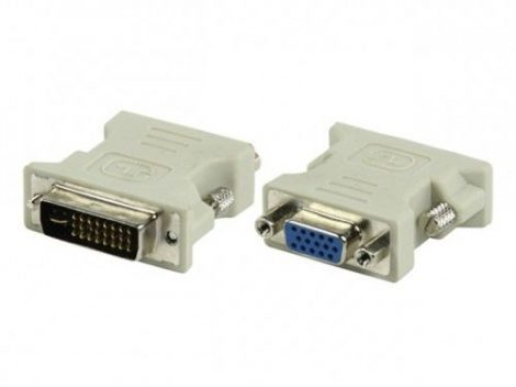 DVI (male) - VGA (female) átalakító adapter - 24+5 pin