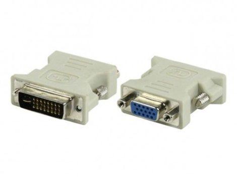 DVI (male) - VGA (female) átalakító adapter - 24+5 pin