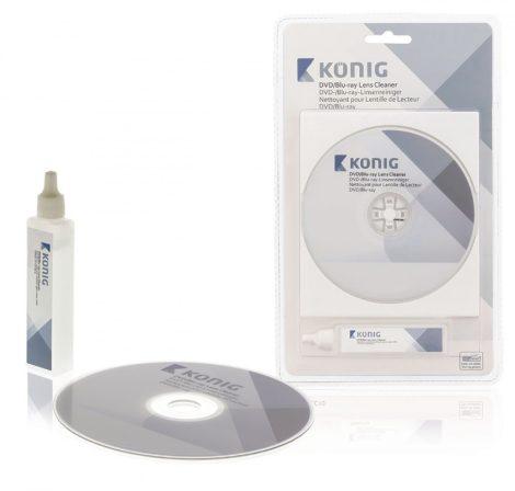 CD/DVD lézerlencse tisztító lemez folyadékkal
