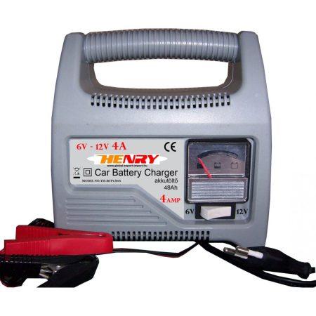 Autó akkumulátor töltő, akkutöltő 6V - 12V