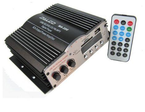 Mini sztereó HI-FI autó erősítő USB / SD - 4 csatornás