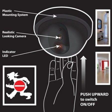 Kültéri biztonsági kamu kamera, álkamera