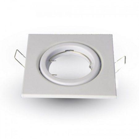 Billenthető beépíthető fehér spot lámpa keret, négyzet lámpatest 99x99 mm