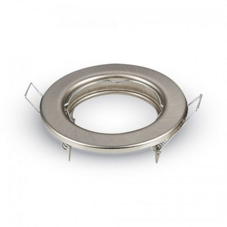Beépíthető spot lámpa keret, matt króm/fix lámpatest - MK-3585