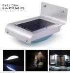 Aquarius napelemes LED lámpa mozgásérzékelővel