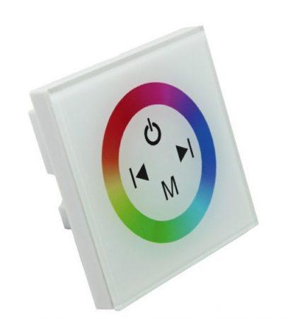 Fényerőszabályzó RGB fali LED szalag kapcsoló dimmer 12V/4A