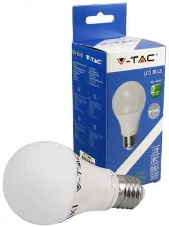 V-TAC 10W E27 A60 LED izzó - meleg fehér