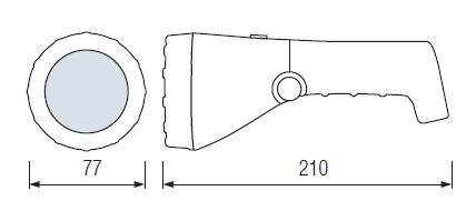 Akkus zseblámpa tölthető LED lámpa