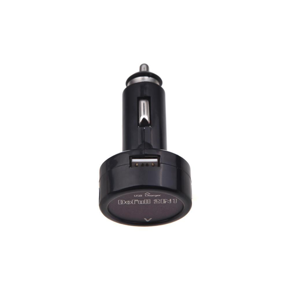 2in1 digitális autós feszültségmérő + USB töltő 2A