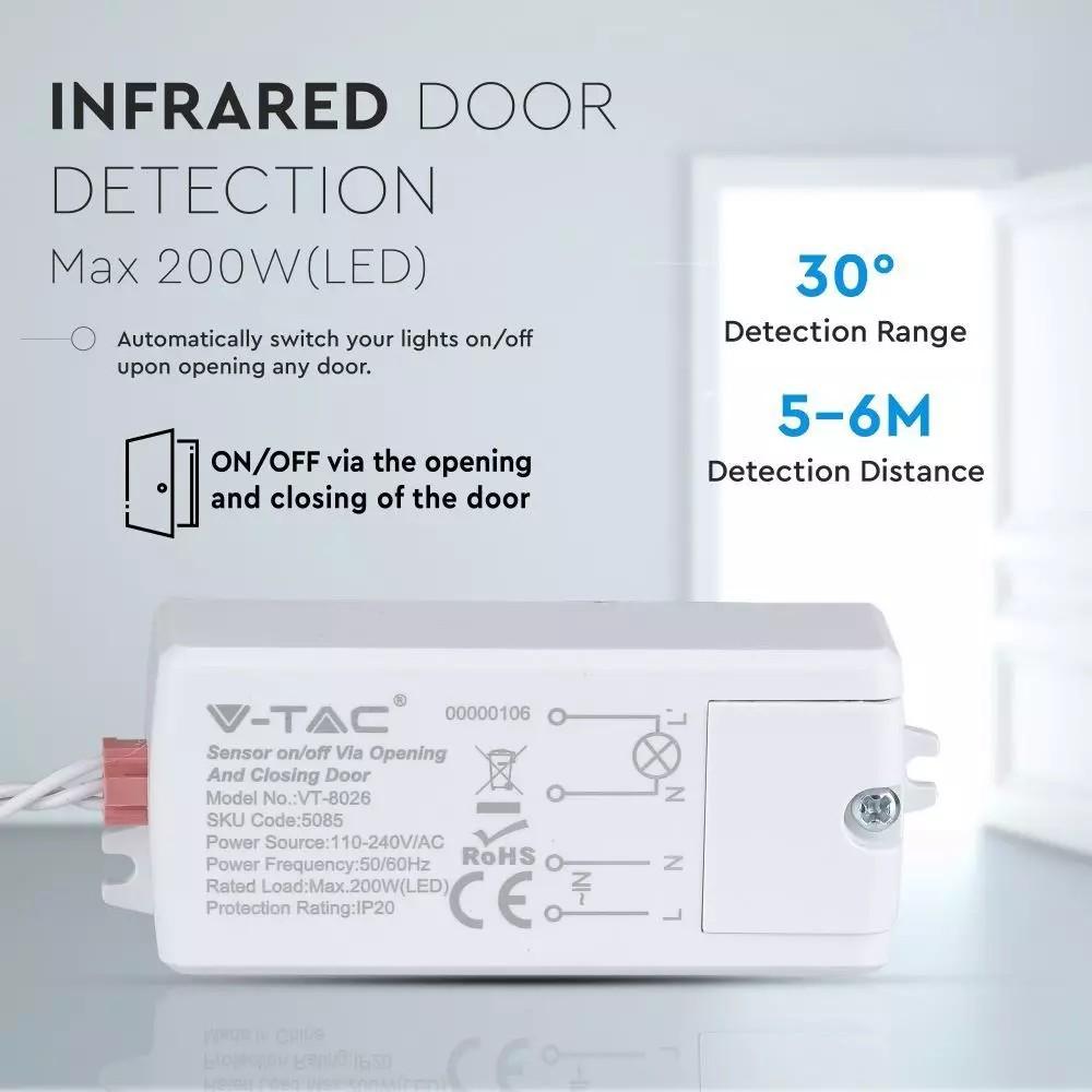 Non-kontakt ajtó/ablak mozgásérzékelő IP20 360°