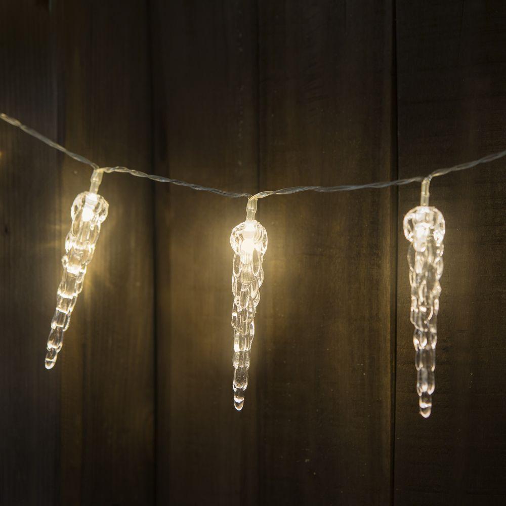 Jégcsap formájú elemes LED fényfüzér