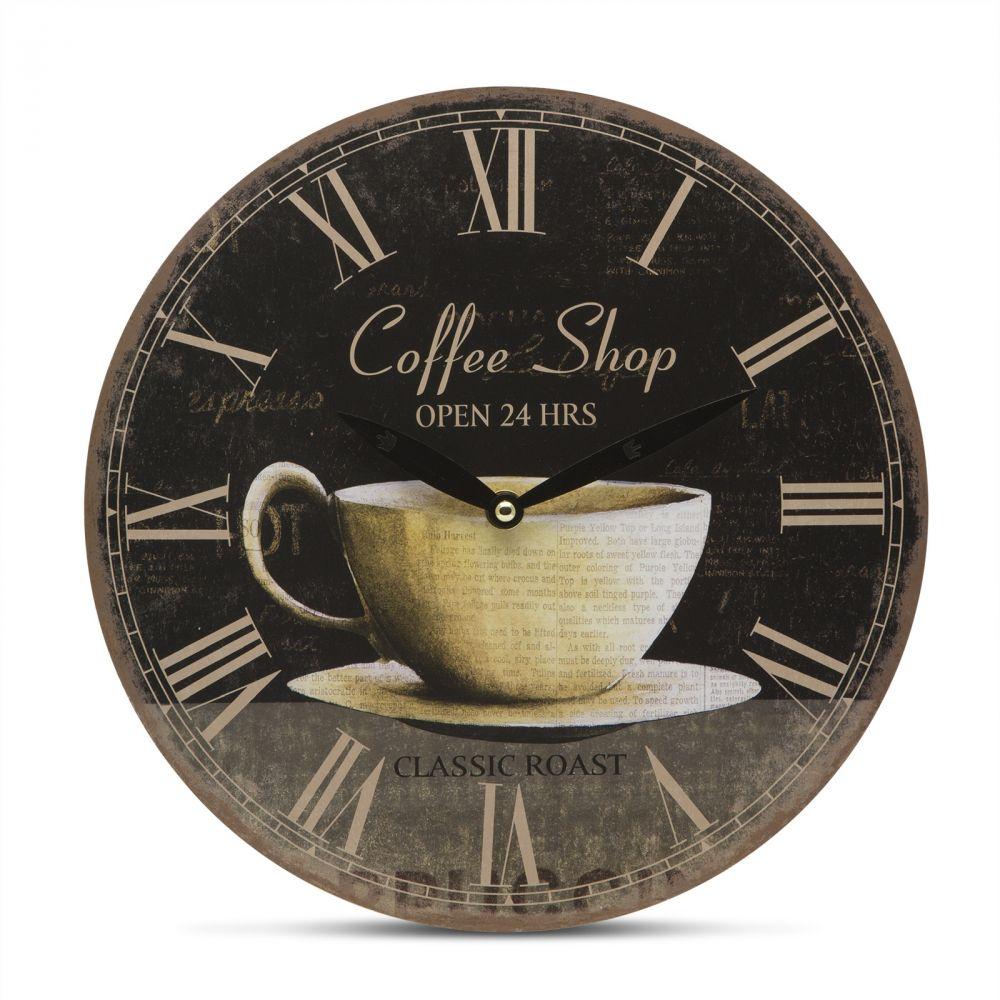 Retró típusú falióra - kávéscsésze