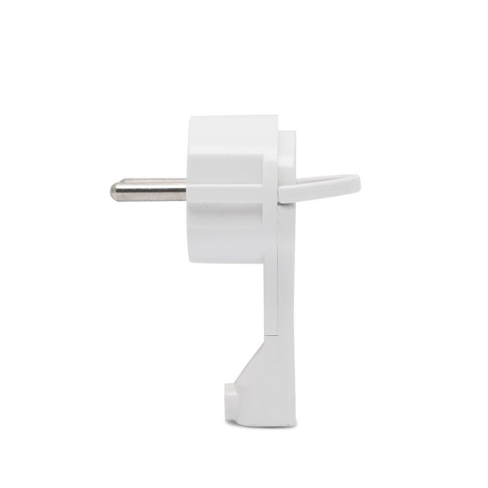 Lapos konnektor dugó, 230V hálózati csatlakozó dugalj - Fehér