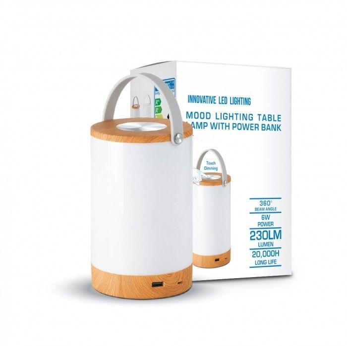 Érintéssel fényerőszabályozható asztali LED lámpa