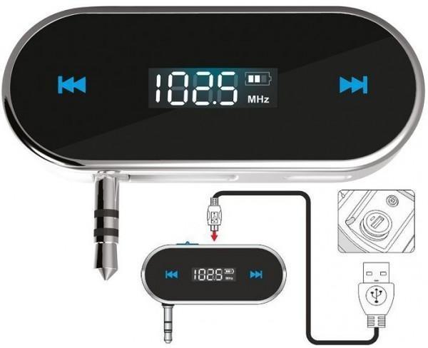 FM transmitter MP3 átjátszó 3,5 mm jack dugóval