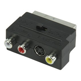 S-video RCA Scart átalakító adapter
