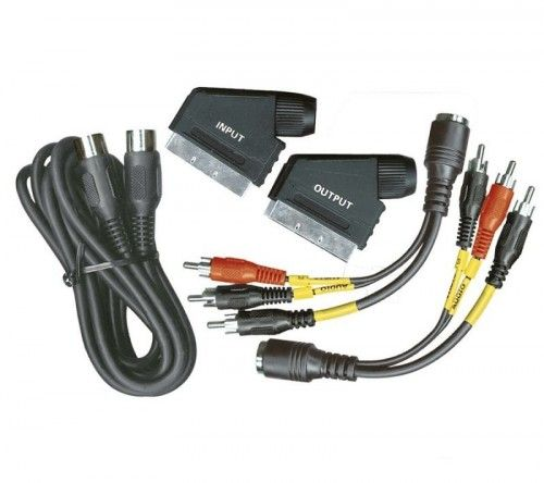 Videó, HIFI kábel szett SVS601 - DIN, BNC, RCA, SCART kábel