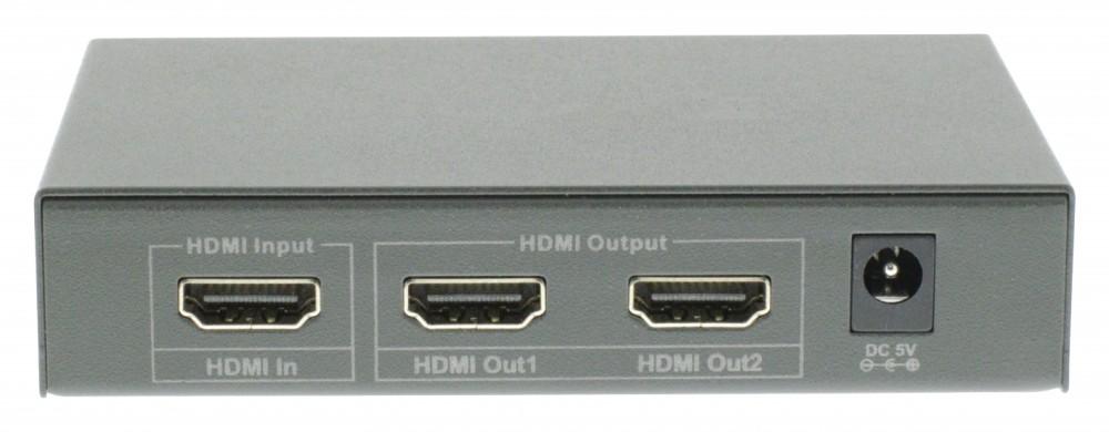 HDMI jel elosztó két képernyőre beépített erősítővel