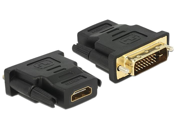 HDMI kábel aljzat - DVI 24+1 tűs dugó átalakító