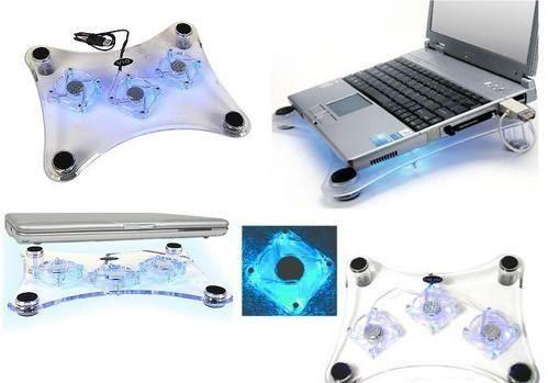 Laptop/notebook hűtő 3 db ventilátorral