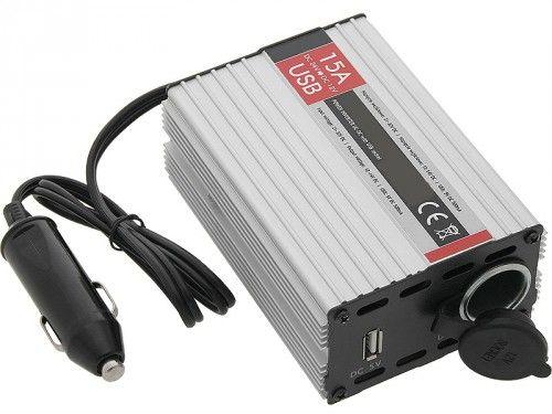12V - 24V szivargyújtós inverter USB porttal