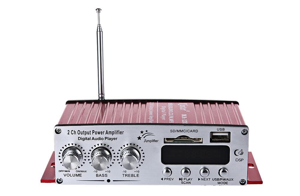 Mini sztereó HI-FI autó erősítő USB / SD -2 csatornás