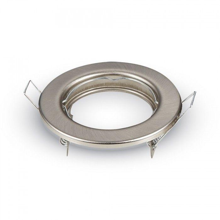 Beépíthető spot lámpa keret, matt króm/fix lámpatest