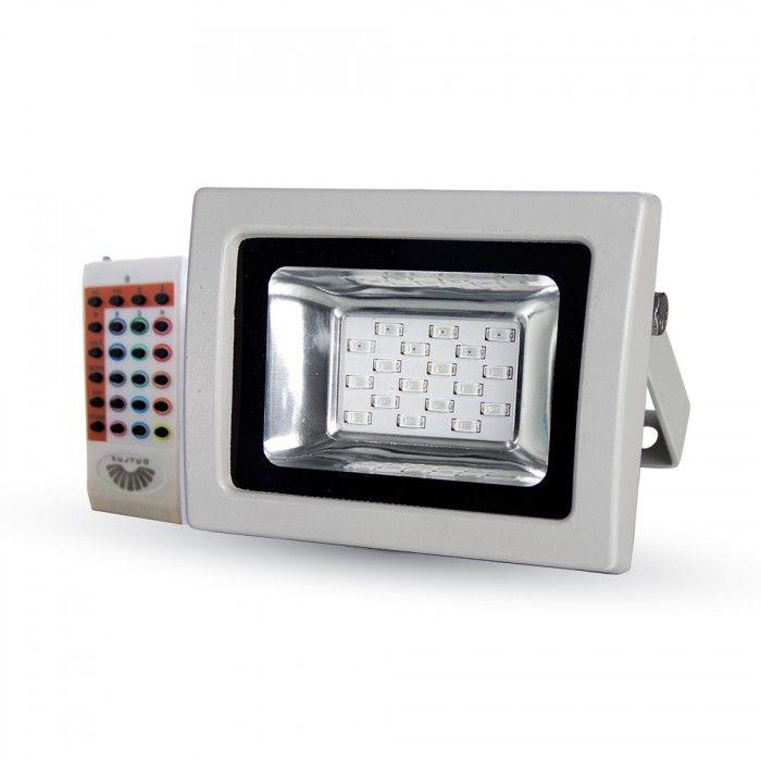 Rádiófrekvenciás színváltós 10W RGB LED reflektor