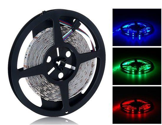 5 m RGB 3528 IP67 LED szalag szett (piros, zöld, kék)