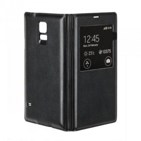 Samsung Galaxy S5 bőrtok, fekete flip tok