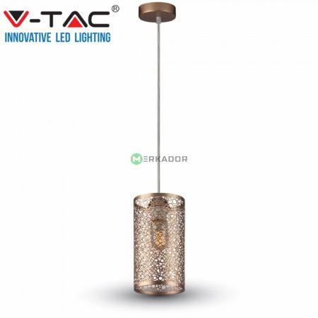 V-TAC mennyezeti áttört mintás függőlámpa - pezsgő arany - 3824