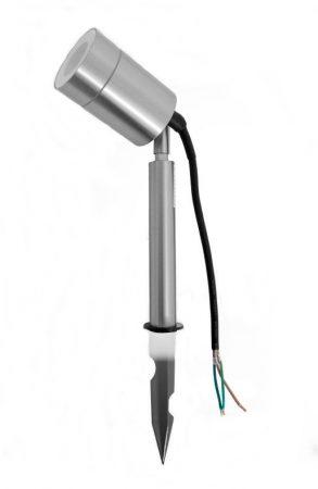 V-TAC leszúrható kültéri mini reflektor, kerti LED lámpa 230V - rozsdamentes acél - 7518