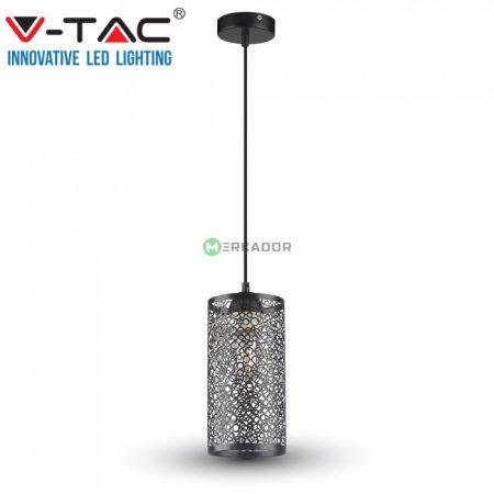 V-TAC mennyezeti áttört mintás függőlámpa - matt fekete - 3825