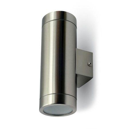 V-TAC rozsdamentes acél kültéri kétirányú fali lámpa 2xGU10 foglalattal - 7507