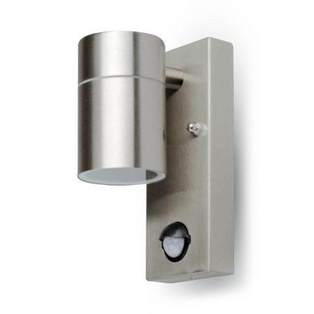 V-TAC rozsdamentes acél kültéri mozgásérzékelős fali lámpa GU10 foglalattal - 7502