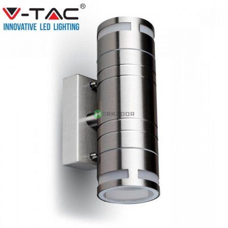 V-TAC rozsdamentes acél kültéri kétirányú fali lámpa 2xGU10 foglalattal - 7504