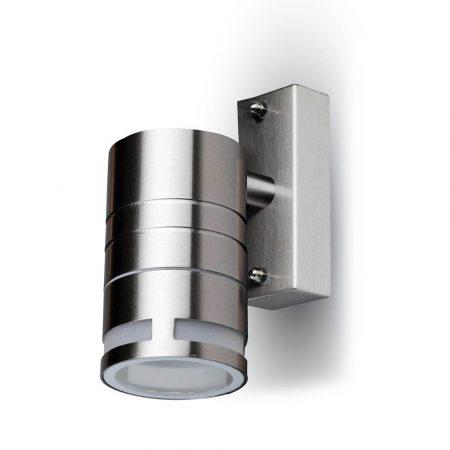V-TAC rozsdamentes acél kültéri egyirányú fali lámpa GU10 foglalattal - 7505